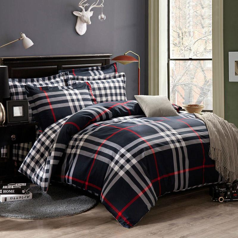 Navy blue Stripes brand bedding set king queen size 100  Cotton bedclothes  duvet cover sheet. Online Get Cheap Navy King Size Comforter  Aliexpress com