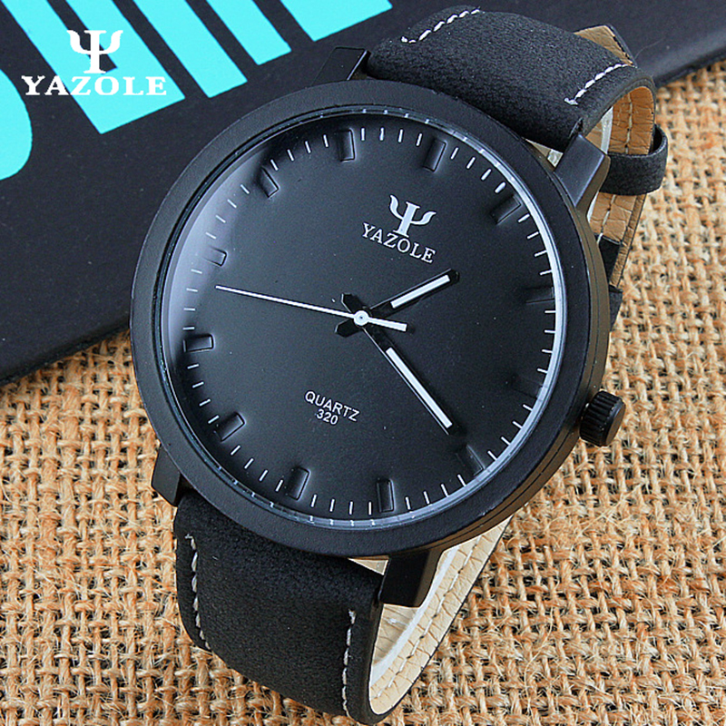 YAZOLE Watches Men Luxury Brand Big Dial Quartz-watch Men's Watches Male Clock Wrist Watch Quartz Wristwatch hodinky erkek saat 2017 new arrived hot sales 7colors fashion big dial men watch brand quartz watch men silicone wristwatch
