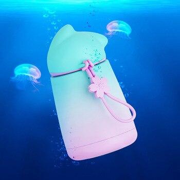 Gourde océan rose bleu enfant inox