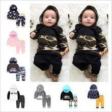 Baby Boy Girl Kid Autumn Winter 2017 Children Clothing 2pcs Sets Fashion Hoodie+Pants 2 Pcs Suits 0-2 Years Kids Clothes