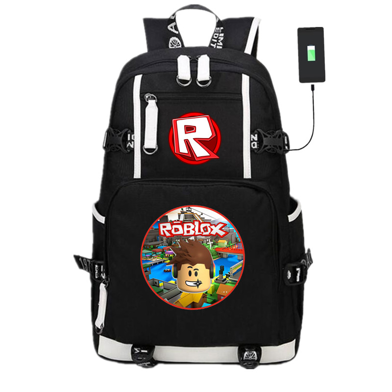 New Anime Game Roblox USB Backpack Knapsack Packsack Travel Bags Student School Bag Bookbag Unisex Travel Laptop Shoulder BagsNew Anime Game Roblox USB Backpack Knapsack Packsack Travel Bags Student School Bag Bookbag Unisex Travel Laptop Shoulder Bags