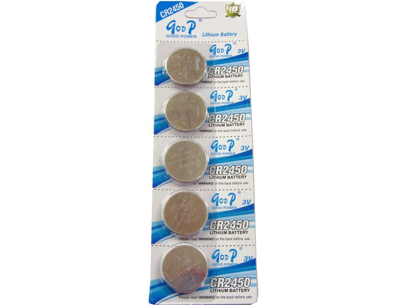 5PCS/LOT GODP High Quality CR2450 <font><b>CR</b></font> <font><b>2450</b></font> <font><b>3V</b></font> Li-ion Button Cell Battery image