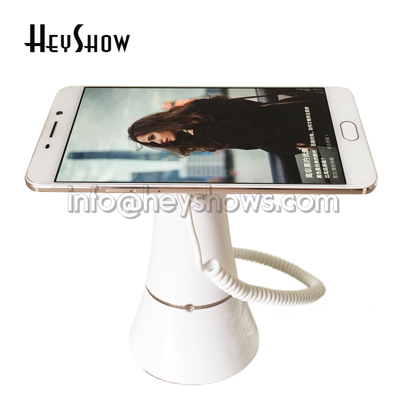 Hot Sell 10xCell mobile phone security display stand iphone alarm holder andriod phone anti-theft for smart phone retail store clear color solid acrylic phone retail store price label display holder advertising leader stand for iphone mobile phone shop