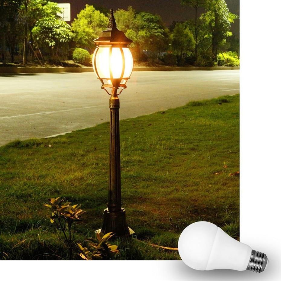 E27 Sensor Light Bulb Dusk To Dawn LED Light Bulbs Smart Lighting Lamp 10W 15W B22 Automatic On/Off Indoor/Outdoor