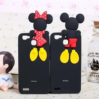 Funny Animal Minnie Mickey 3D Cartoon Silicon Phone Cases For Huawei Enjoy 5S GR3 Gr 3