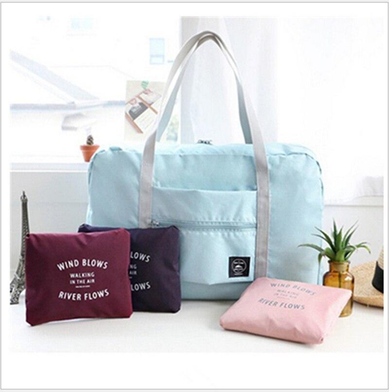 d0be1870a Nueva moda compras viaje bolsa de gran capacidad mujeres hombres  impermeable plegable hombro bolsa de lona equipaje organizador bolsos