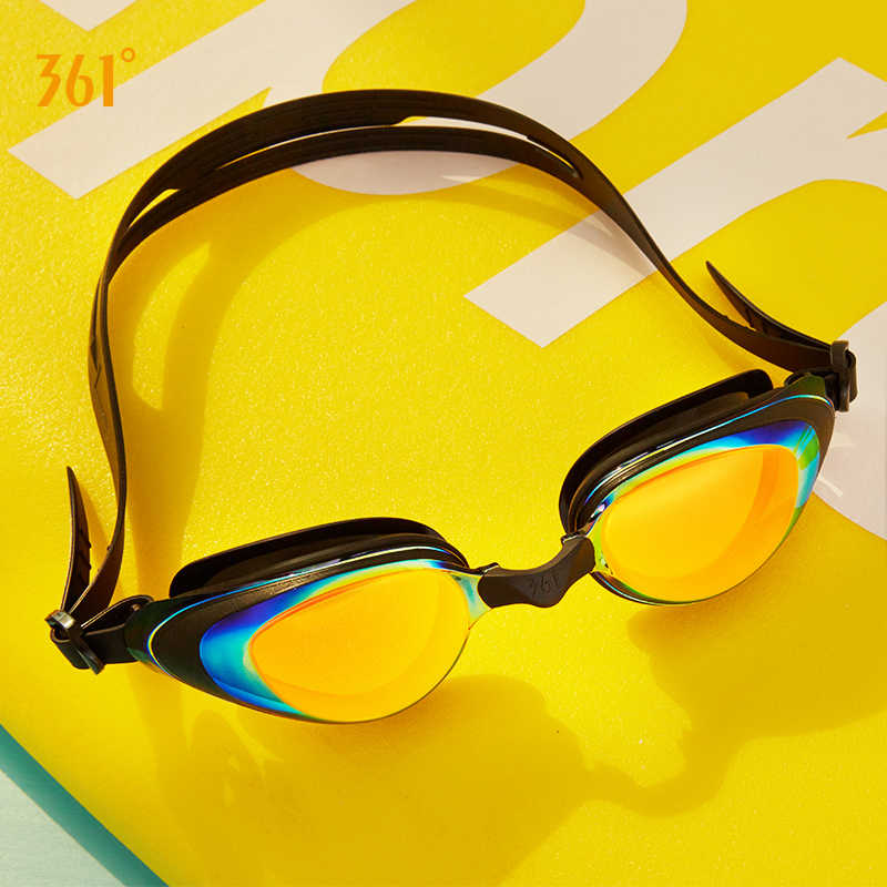 361 swimming goggles male and female adult kids  HD waterproof anti-fog  mirrored swim glasses professional swim equipment
