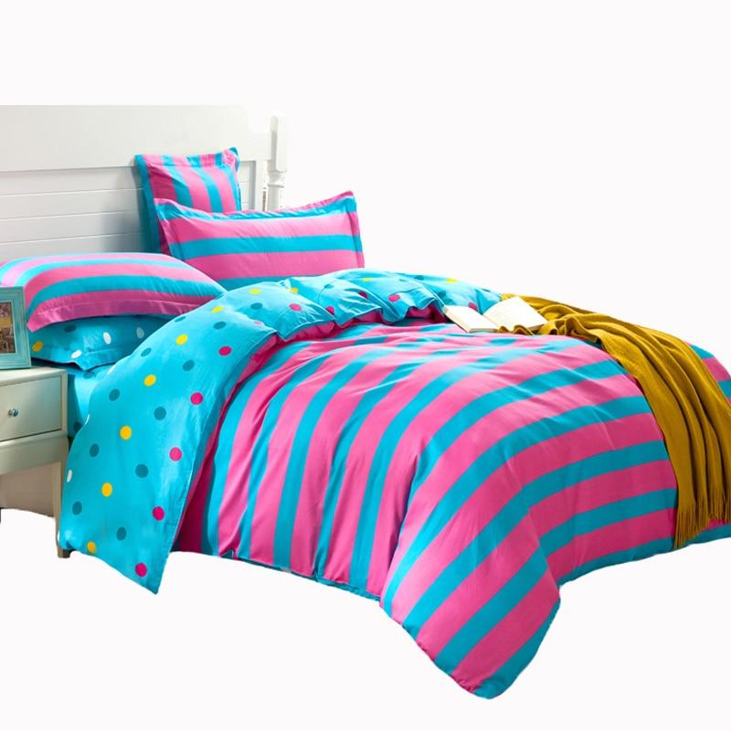 sport style fashion pink blue stripe quiltduvet c - Striped Sheets