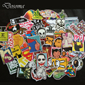 200PCs Drop Shipping Mixed Hot Sale Home Decor Toys Styling Laptop Stickers for Motorcycle Skateboard Doodle Toys Stickers