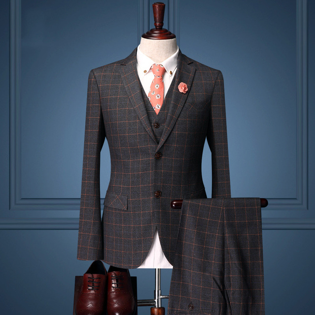 Pre Sale men formal business wedding groom dress suit sets dinner . c52f036d85f0