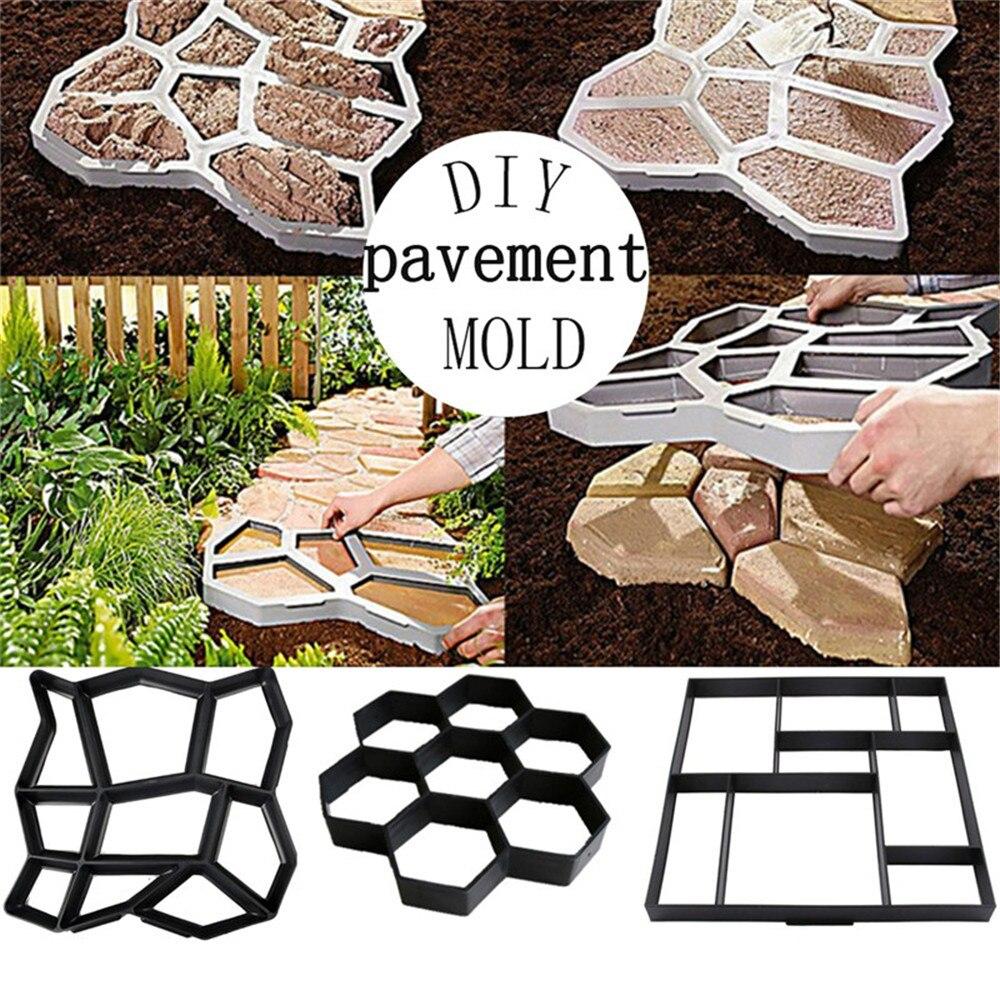Garten Stein Spaziergang Maker Mould DIY Pflaster Beton Form Auffahrt Pflaster Ziegel Kunststoff Für Beton DIY Stein Wege