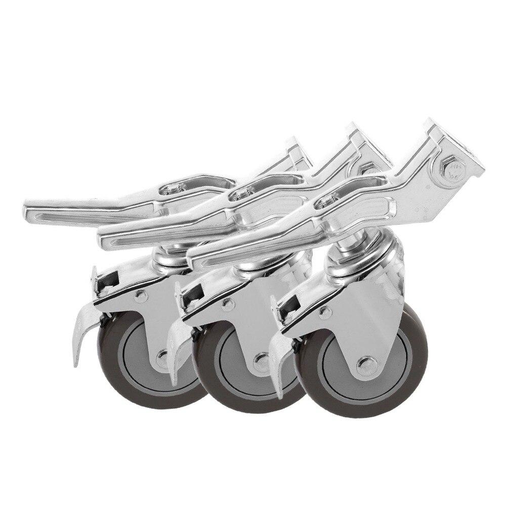 Meking 360 Degree Swivel Photo Studio Caster Locking Wheel with Brake Lock for Light Stands Boom or Other Photo Studio Equipment стоимость
