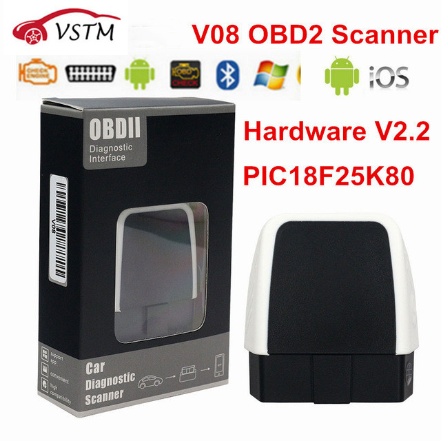 ELM327 V2.2 / V1.5 Bluetooth 4.0 PIC18F25K80 obd obd2 CAN BUS For IOS/Android/PC Torque Auto Code Reader ELM 327 V1.5|Code Readers & Scan Tools|   - AliExpress