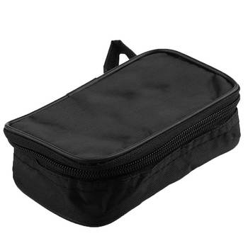 Canvas Case Multimeter Black Bag Durable Waterproof Shockproof Soft Case Tool Bag Instrument Storage Bag 23x14x5cm