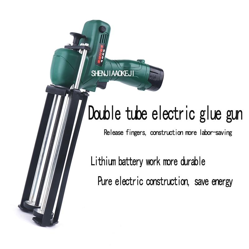 1PC 8.4V Handheld Electric Glue Gun Labor-saving Glue Gun Electric Double-tube Hydraulic Glue Ceramic Tile Seam Sealant Gun