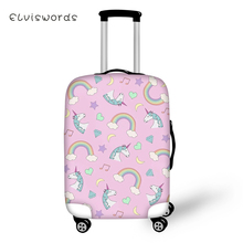 ELVISWORDS Protective Suitcase Cover Elastic Dustproof Luggage Unicorn Horse Prints Pattern Waterproof Accessories