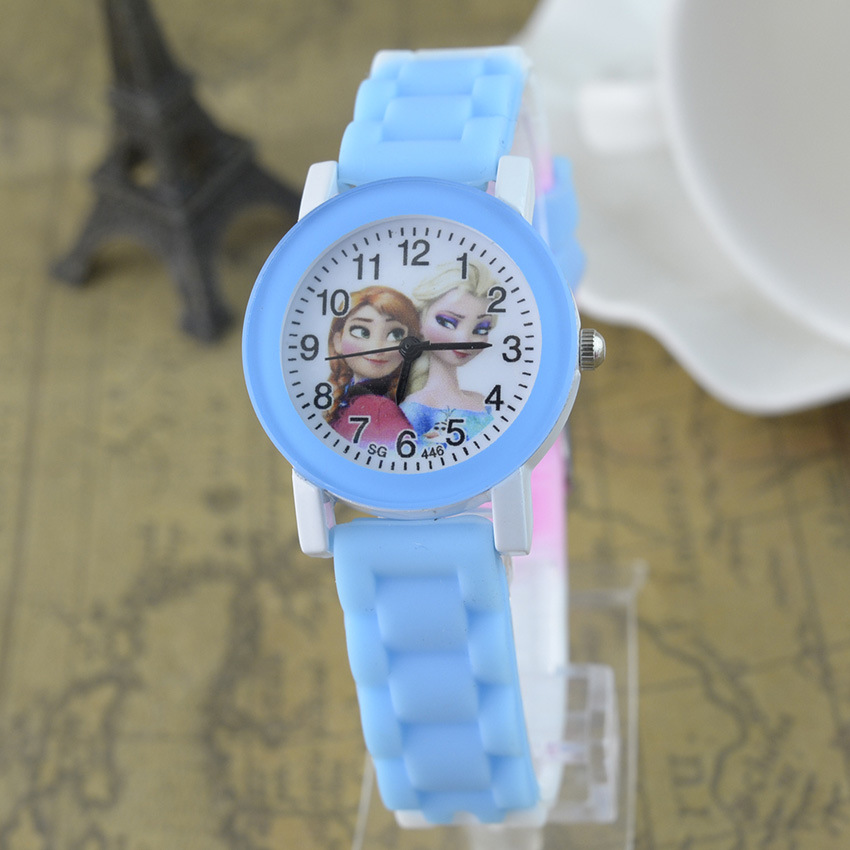Princess Elsa Kids Watches Cute Frozen Cartoon Children Watch Fashion Quartz Watch Girl Party Kids Gift Girl's Student Clock