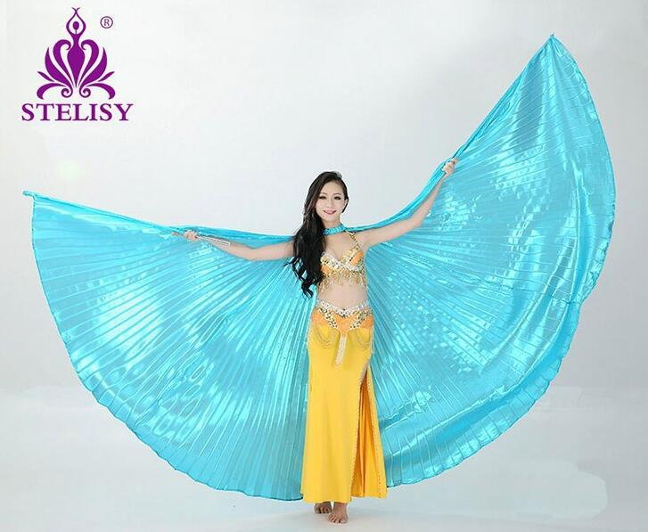 2017 Hot Selling Women Belly Dance Isis Wings Oriental Design Nya Wings Without Sticks