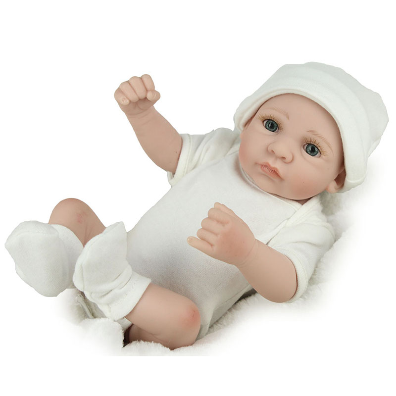 "Reborn Baby Boy Girl Dolls 10/"" Lifelike Full Vinyl Silicone Preemie Doll Gifts"
