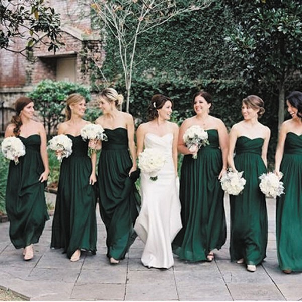Popular Hunter Green Bridesmaids Dresses-Buy Cheap Hunter Green ...