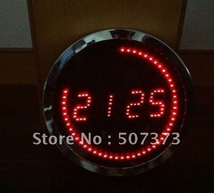 1pc/lot ED metal electric clock, mirror display,CHRISTMAS VALANTINE'S DAY NEW YEAR GIFT ORNAMNET