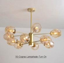 lustre Simple Living Room Chandelier Creative Study Bedroom Lamp Mediterranean Magic Bean Modern Glass Molecular