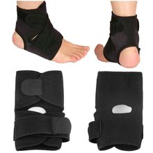 Unisex Black Adjustable Ankle Foot Ankle Support Elastic Brace Guard Protector Football Basketball Outdoor Sports Accessories