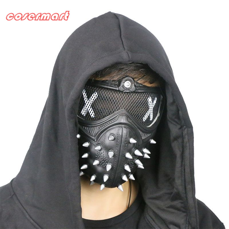Gioco Cosplay Mask Watch Dogs 2 Maschera Chiave Holloway Mask Casual Tangerine Mask Halloween Party Prop