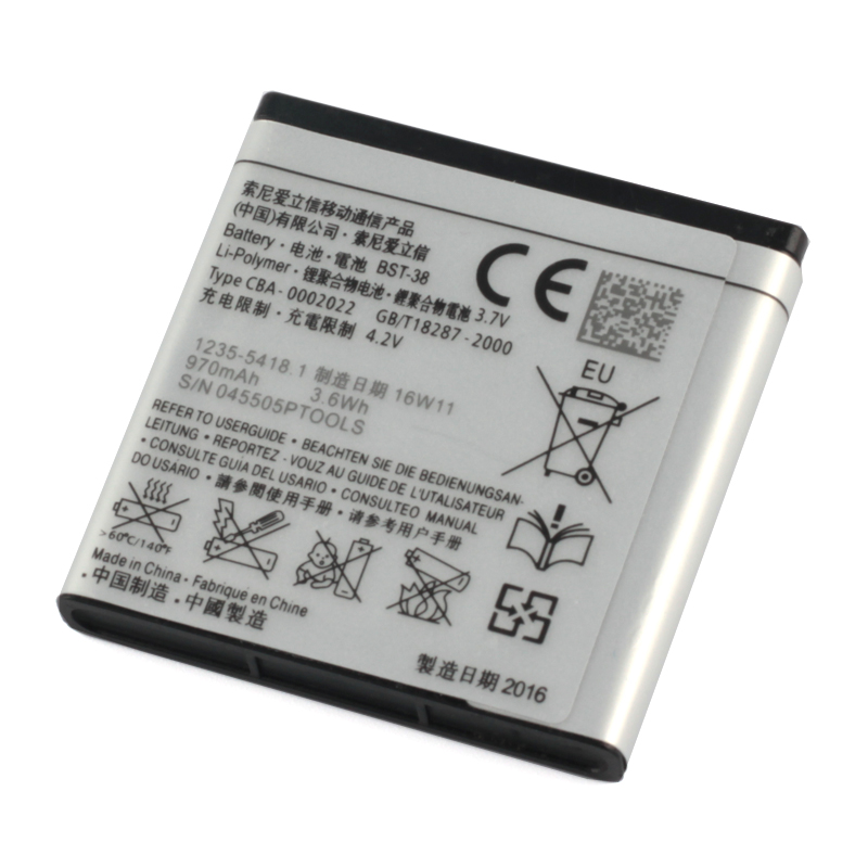 Original Sony High Capacity BST 38 Battery For Sony Ericsson W980 Z770i C510 C902 C905 K770 930mAh in Mobile Phone Batteries from Cellphones Telecommunications