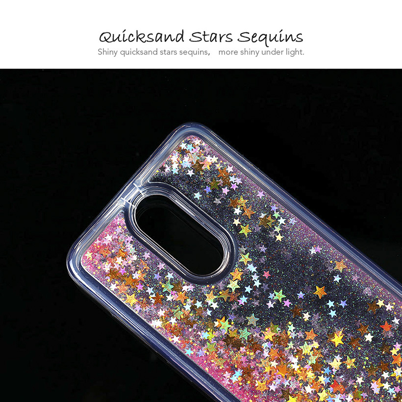on sale 6788c 26f38 Phone Case For Oppo A5 Case Oppo A3s Silicone Soft TPU Glitter Liquid  Anti-Knock Quicksand Back Cover Protective Shell