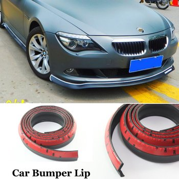 For BMW 1 2 3 4 5 6 7 X1 X2 X3 X4 X5 X6 Car Front Rubber Bumper Lip Splitter Skirt Protector Car Body Chassis Side Protection image