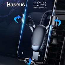 Baseus гравитационный Автомобильный держатель для iPhone X XR Xs Max Air Outlet держатель для мобильного телефона Автомобильный смартфон держатель для телефона