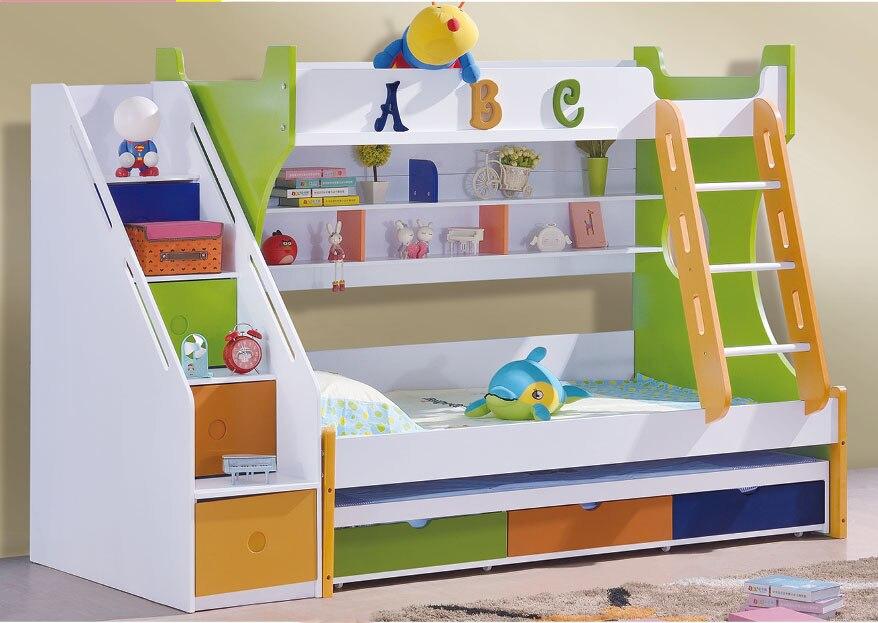 2018 lits superposés en bois enfant litas offre spéciale Promotion bois maternelle meubles Camas Lit Enfants Meuble Enfants