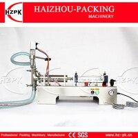 HZPK полуавтоматическая жидкий наполнитель Нержавеющаясталь один заполнения сопла разливочная машина для, косметика, сок 10 100 мл G1WYD100