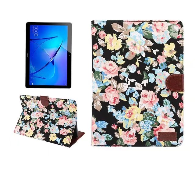 Case For Huawei Mediapad T3 10 9.6Inch Printed Cloth Smart Stand Case Cover For Huawei T3 10.0 Protective Case