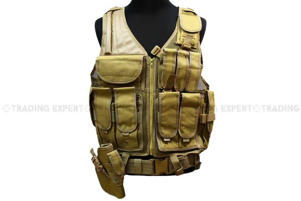 military tactical vest molle USMC Tactical Hunting Combat Vest (Sand) [VT-05] ботинки usmc американской морской пехоты