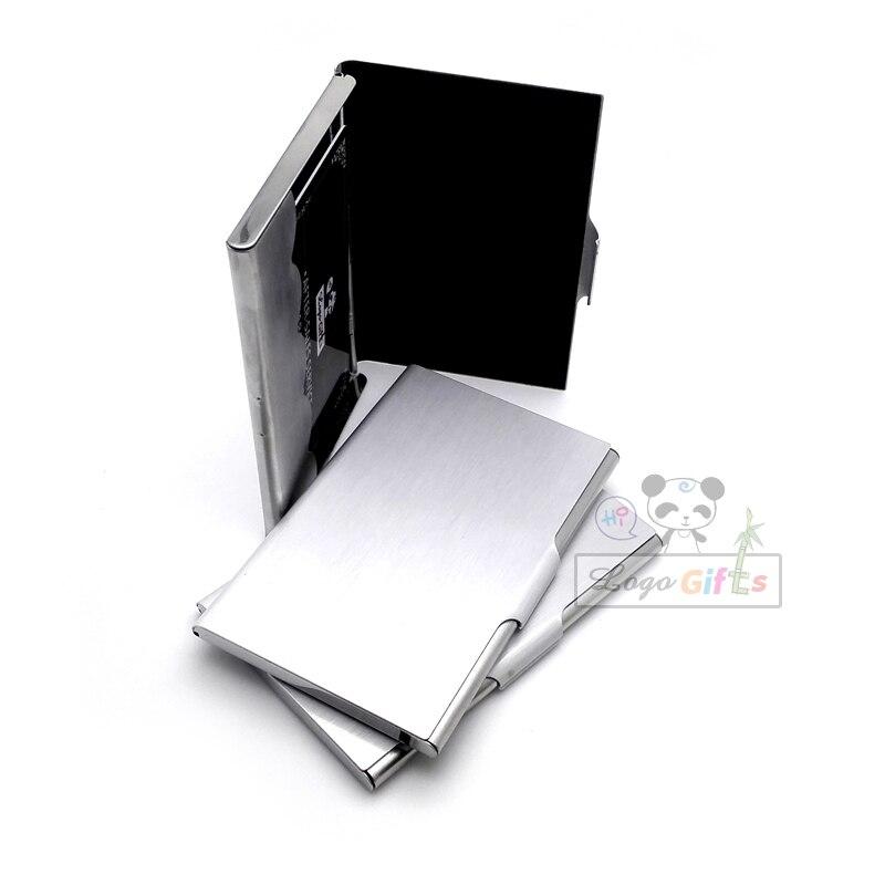 Mode metall karton visitenkarte halter hohe reichweite fördernde karte box mit ihrem logo und telefon angepasst