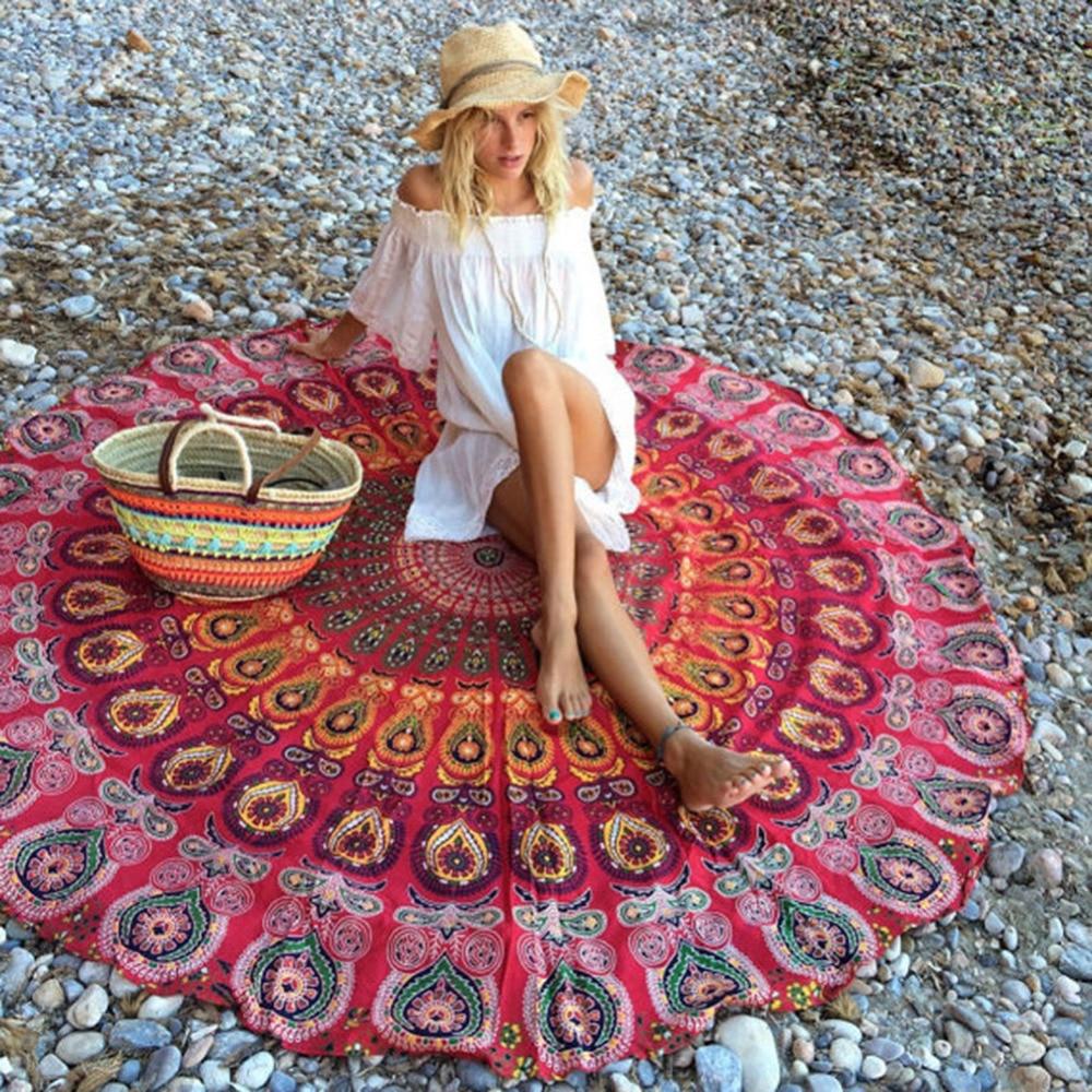 2019 Portable Multifunction Chiffon Shawl Sunscreen Shawl Beach Towel Wrapped Yoga Mat Beach Mat Wall