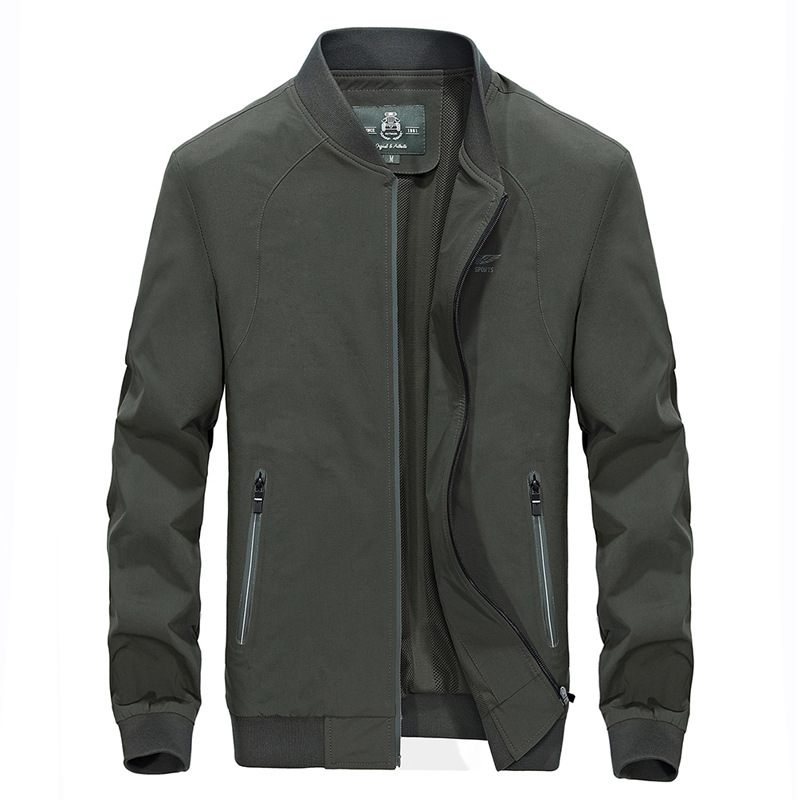 Nouvelle mode automne printemps militaire Bomber veste hommes décontractée manteau Baseball veste col montant mâle vêtements grande taille 4XL