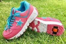 Jazzy zapatos de rueda para niños y niñas, zapatillas de rodillo transpirables, a la moda