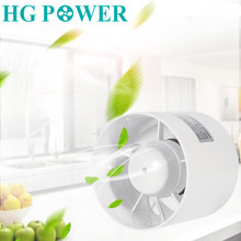220V 110V Round Duct Booster Fan Exhaust Ventilator Ventilation Vent Air for Window Wall Bathroom Toilet Kitchen 4/ 5/ 6 inch''
