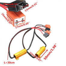 2pcs Car Fog Lamps Decoder 6R H7 Headlight Load Resistor LED Error Warning Resistance High quality Hot Sale