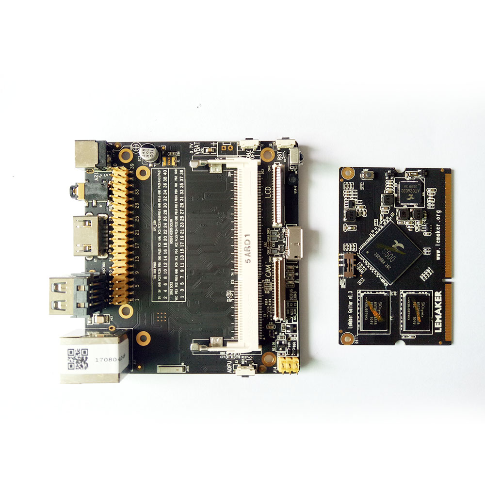 цена на Lemaker Guitar High performance ARM Development board Quad-core 64-bit  1G DDR3 + 8GB eMMC Running with Android 5.0 & Linux