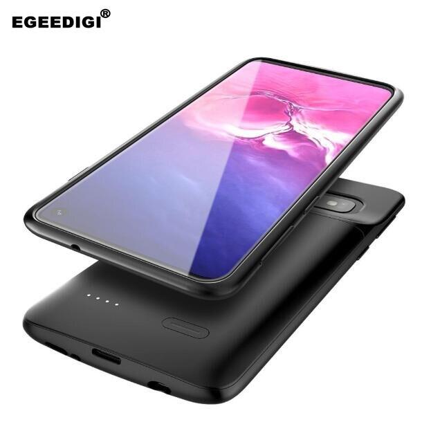 Egeedigi 5000mAh For Samsung Galaxy S10 Plus Battery Charger Case External Portable Backup Power Bank Case