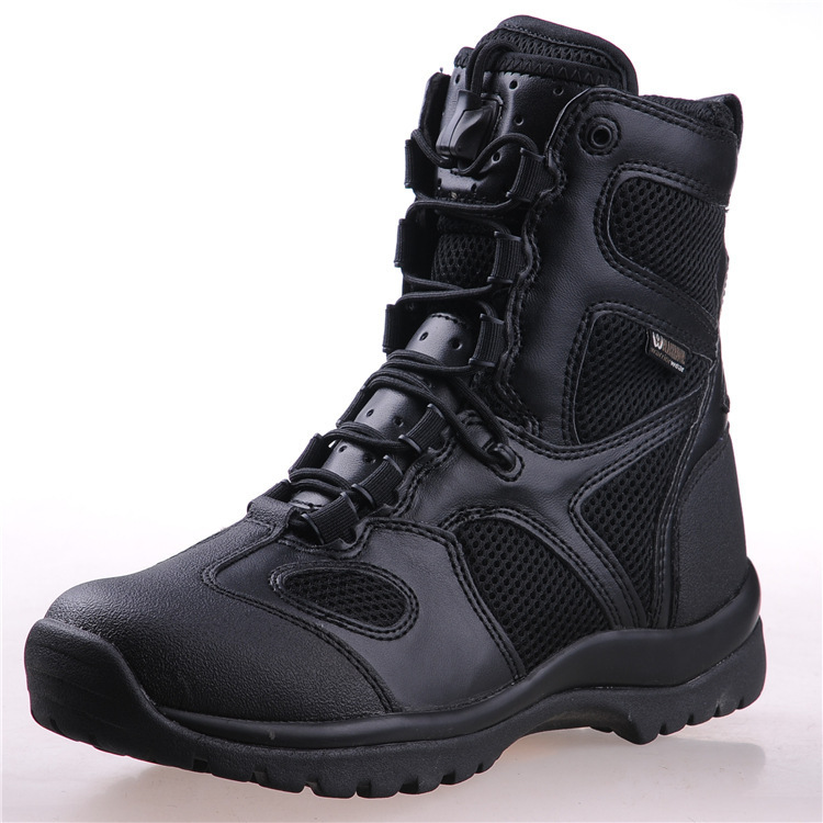 Men Tactical Boots Leather Vintage motorcycle Lace Mens Army Boots Combat Ankle Military Boots High Safety
