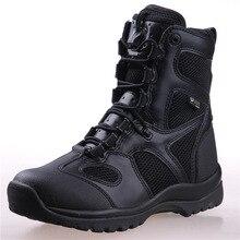 Для мужчин Армейские ботинки кожа Винтаж мотоциклетные Кружево Для мужчин S армейские ботинки армейские ботильоны Армейские сапоги Высокая Предметы безопасности работы зимняя обувь