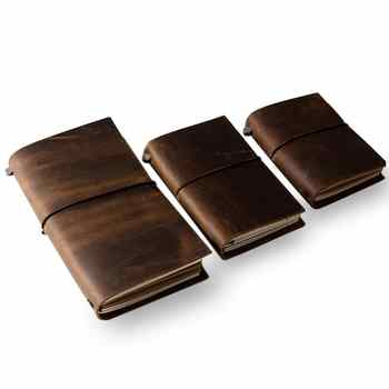 Vintage Style Leather Cover Notebook Journal Diary Blank String Nautical genuine leather note book Vintage Cowhide planner - Category 🛒 All Category