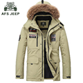 Duck down coat men 2016 brand white duck down jacket men AFS JEEP thick warm casual Winter jacket men fur collar mens down parka