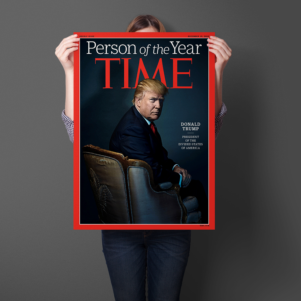 Time Person Of The Year Donald Trump Wall Art Sticker Art Print Silk Fabric Cloth Poster And Print Picture Painting Home Decor