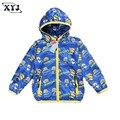 2016 Otoño Top Coat Niños Minion Minion Traje Bebé Chaqueta Para Chicas Ropa Niños Outwear Niños Trench Coat Hoodies Del Bebé